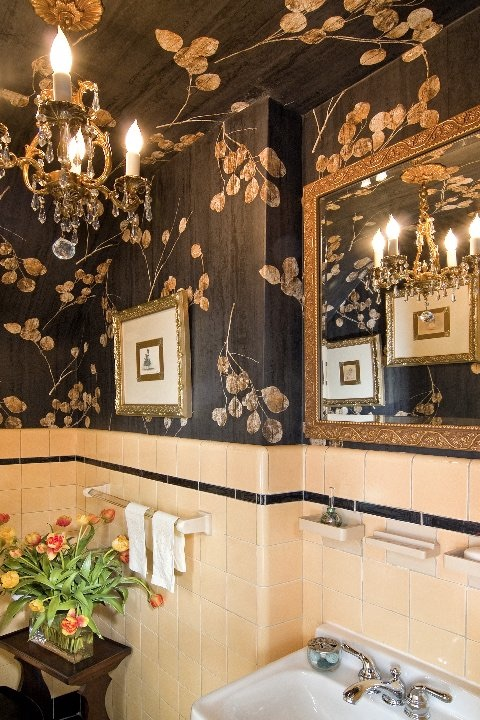 Floral Powder Room